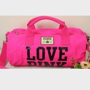 Victoria Secret pink Weekender Duffle Bag tote